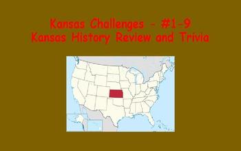 Kansas Challenges (Kansas Trivia) Enrichment Assignments - Set #1 (#1-9)