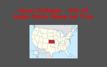 Kansas Challenges (Kansas Trivia) Enrichment Assignments - Set #2 (#10-18)
