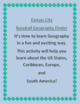 Kansas City Baseball Geography Finder