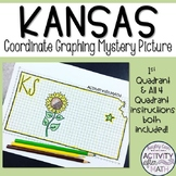 Kansas Coordinate Graphing Picture 1st Quadrant & ALL 4 Quadrants