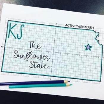 Kansas Coordinate Graphing Picture 1st Quadrant & ALL 4 Quadrants