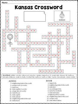 Kansas Crossword Puzzle