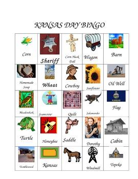 Kansas Day Bingo
