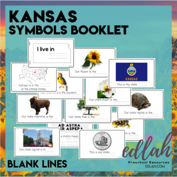 kansas state symbols booklet blank lines by melissa schaper tpt