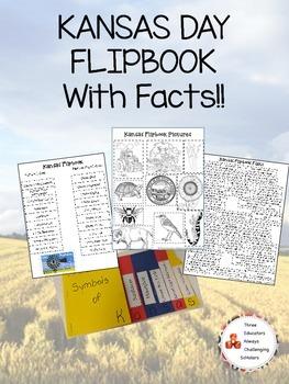 Kansas Day Symbol Flipbook W/ Facts!