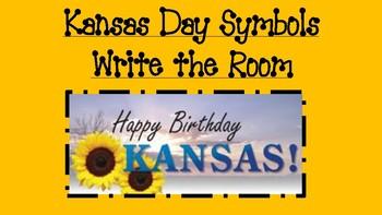 Kansas Day Symbols Write the Room