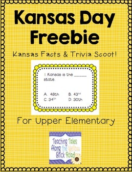Kansas Facts & Trivia Task Cards