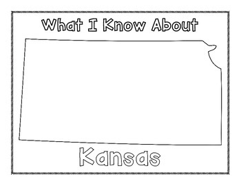 Kansas Graphic Organizers (Perfect for KWL charts and geography!)