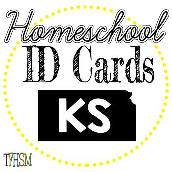Kansas (KS) Homeschool ID Cards for Teachers and Students