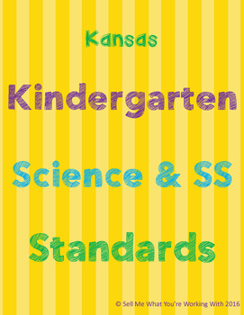 Kansas Kindergarten Science & Social Studies Standards