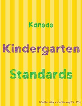 Kansas Kindergarten Standards BUNDLE