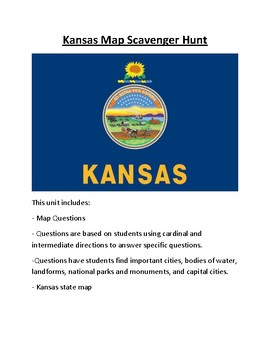 Kansas Map Scavenger Hunt