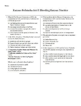 Kansas Nebraska Act & Bleeding Kansas with Regents Practice