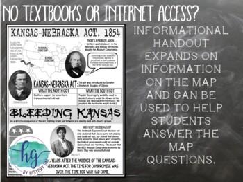 Kansas Nebraska Act Map Activity by History Gal TpT