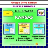 Kansas Puzzle BUNDLE - Word Search & Crossword Activities - U.S States - Google