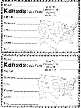 Math about Kansas State Symbols through Subtraction Practice