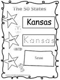 Kansas Read it, Trace it, Color it Learn the States presch