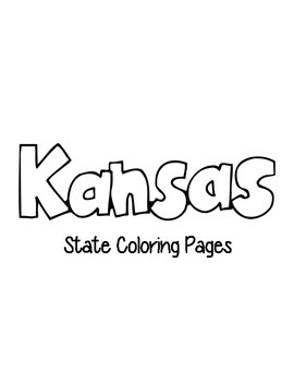 Kansas State Coloring Pages