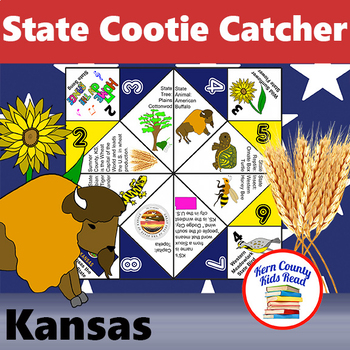 Kansas State Facts And Symbols Cootie Catcher Distance Learning Printable