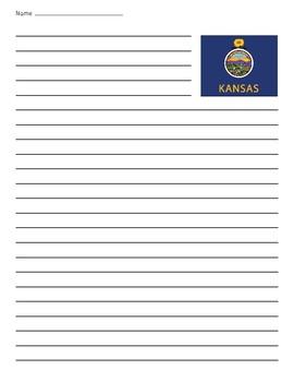 Kansas State Flag Lined Paper