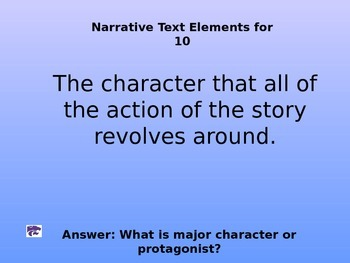 Kansas State Reading Assessment Review Jeopardy 8th grade LA