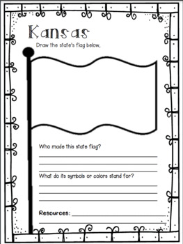 Kansas State Research Report Project Template + bonus timeline Craftivity KS