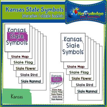 Kansas State Symbols Interactive Foldable Booklets