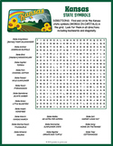 KANSAS State Symbols Word Search Puzzle Worksheet Activity