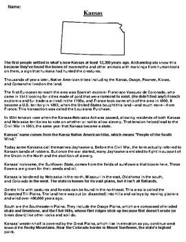 Kansas Text Evidence and Summary Assignment