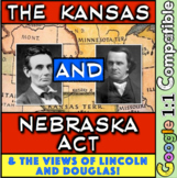 Kansas and Nebraska Act & the beginnings of Lincoln Douglas Debates! Engaging!
