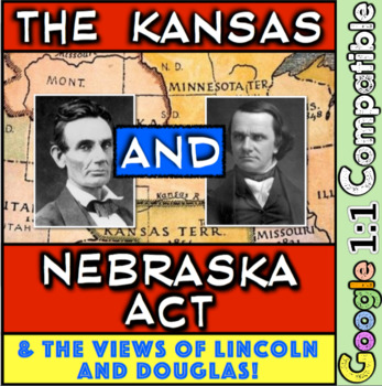 Kansas and Nebraska Act & the beginnings of Lincoln Dougla