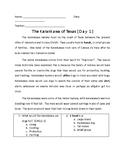 Karankawa Indians of Texas Daily Comprehension Work