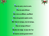 Karaoke French Christmas Song and Gap fill