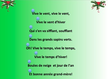 Karaoke French Christmas Song and Gap fill