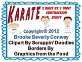 Karate 2 Digit Subtraction Scoot Center