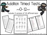 Karate Addition Timed Tests ~0-12~