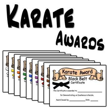 Karate Award Certificates