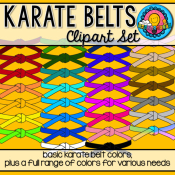 Karate Belt Achievement Badge Clipart 16 Colors