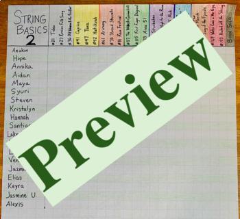 Karate Belt Curriculum: String Basics Book 2