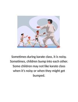 Karate Class Participation-Social Story