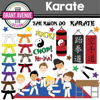 Karate Clipart By Grant Avenue Design Teachers Pay Teachers