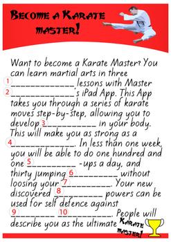 Karate Fun Madlibs