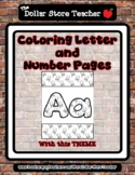 Karate / Kick - Theme Coloring Letter and Number 0 - 10 (3