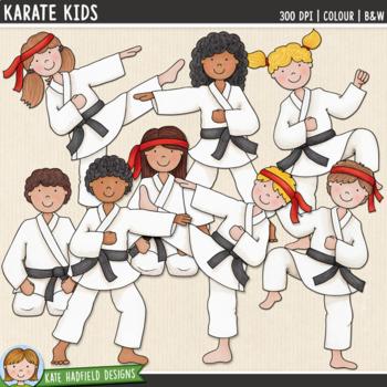 Karate Kids Clip Art