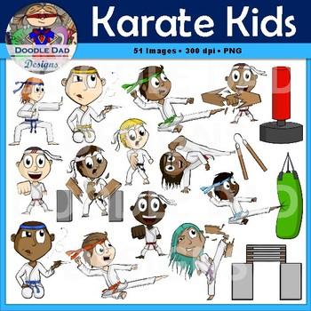 Karate Kids Clip Art (Martial Arts, Sports, Judo)
