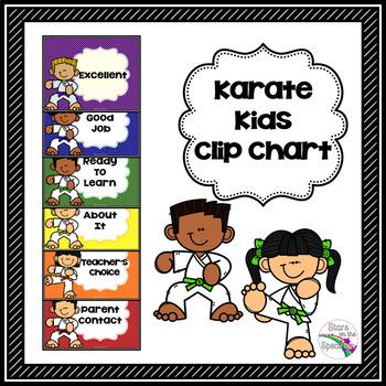 Karate Kids Clip Chart Karate Kids Behavior Management