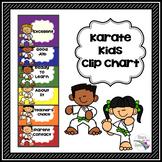 Karate Kids Behavior Clip Chart