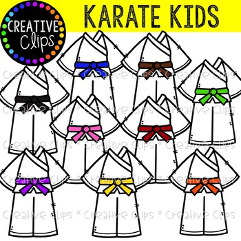 Karate Kids Creative Clips Clipart By Krista Wallden