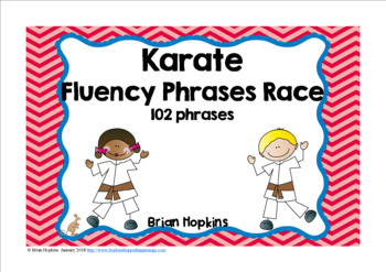 Karate Sight Word Fluency Phrases Race