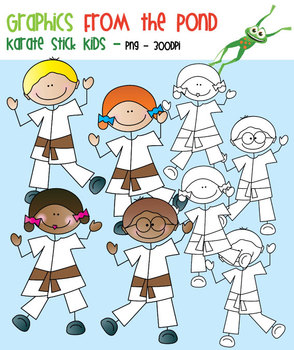 Karate Stick Kids - Clipart for Teaching Resources